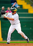 30 April 2009: University of Vermont Catamounts' infielder James Katsiroubas, a Freshman from Milton, MA, at bat against the Siena College Saints at Historic Centennial Field in Burlington, Vermont. The Saints outscored the Catamounts 11-10 in the afternoon matchup. The Catamounts are playing their last season of baseball, as the program has been marked for elimination due to budgetary constraints at the University. Mandatory Photo Credit: Ed Wolfstein Photo