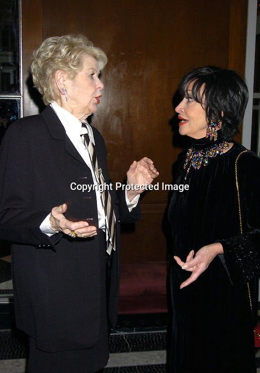 Elaine Stritch and Chita Rivera ..at The 30th Anniversary of The New Yorker for New York Awards on February 14, 2005 at The Waldorf Astoria Hotel...Photo by Robin Platzer, Twin Images