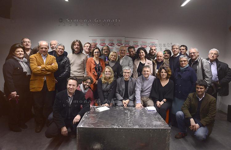 Roma, 21 Gennaio 2013.Nichi Vendola presenta i candidati di sinistra Ecologia Libertà del Lazio
