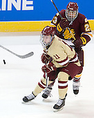 Pat Mullane (BC - 11), J.T. Brown (Duluth - 23) - The Boston College Eagles defeated the University of Minnesota Duluth Bulldogs 4-0 to win the NCAA Northeast Regional on Sunday, March 25, 2012, at the DCU Center in Worcester, Massachusetts.