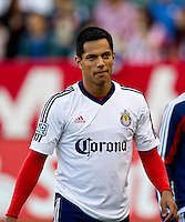 CARSON, CA - June 16, 2012: Chivas USA forward Cesar Romero (58) before the Chivas USA vs Real Salt Lake match at the Home Depot Center in Carson, California. Final score Real Salt Lake 3, Chivas USA 0.