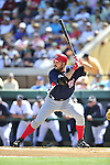 5 March 2009: Washington Nationals' first baseman Nick Johnson at bat during a Spring Training game against the Detroit Tigers at Joker Marchant Stadium in Lakeland, Florida. The Tigers defeated the visiting Nationals 10-2 in the Grapefruit League matchup. Mandatory Photo Credit: Ed Wolfstein Photo