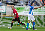 Brechin City v St Johnstone&hellip;26.07.16  Glebe Park, Brechin. Betfred Cup<br />Andy Jackson celebrates his goal<br />Picture by Graeme Hart.<br />Copyright Perthshire Picture Agency<br />Tel: 01738 623350  Mobile: 07990 594431