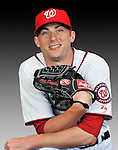 25 February 2011: Washington Nationals' pitcher Ross Detwiler poses for his Photo Day portrait at Space Coast Stadium in Viera, Florida. Mandatory Credit: Ed Wolfstein Photo
