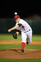 Florida Fire Frogs relief pitcher Corbin Clouse (37) delivers a warmup pitch during the teams inaugural game against the Daytona Tortugas on April 6, 2017 at Osceola County Stadium in Kissimmee, Florida.  Daytona defeated Florida 3-1.  (Mike Janes/Four Seam Images)