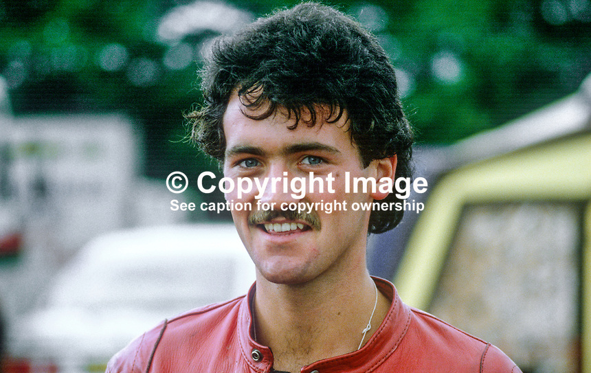 Colin Wilson, Ballyclare, N Ireland, UK, racing motorcylist, 19840101CW..Copyright Image from Victor Patterson, 54 Dorchester Park, Belfast, UK, BT9 6RJ..Tel: +44 28 9066 1296.Mob: +44 7802 353836.Voicemail +44 20 8816 7153.Skype: victorpattersonbelfast.Email: victorpatterson@me.com.Email: victorpatterson@ireland.com (back-up)..IMPORTANT: If you wish to use this image or any other of my images please go to www.victorpatterson.com and click on the Terms & Conditions. Then contact me by email or phone with the reference number(s) of the image(s) concerned.
