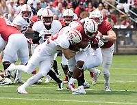 Stanford, CA - April15, 2017:  Joey Alfieri (32) Trevor Speights (23) at Cagan Stadium.