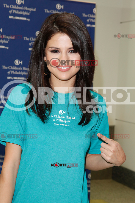 Selena Gomez pictured at Ryan Seacrest's launch of The Voice, a closed circuit broadcast center at Childrens Hospital in Philadelphia, Pa on July 15, 2011  &copy; Star Shooter / MediaPunchInc *NortePhoto.com*<br /> **SOLO*VENTA*EN*MEXICO**