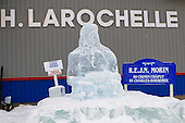 St-Come en glace, 28e edition, Fevrier 2009. One of the many ice sculptures that line the streets of the village