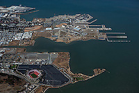 Aerial photograph Hunters Point Candlestick Park San Francisco California