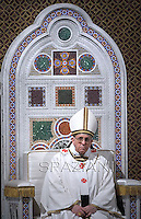 Pope Francis  mass,in the Rome's basilica of St. John Lateran,April 7, 2013