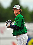 22 June 2009: Vermont Lake Monsters' pitcher Federico Tanco warms up prior to facing the Tri-City ValleyCats at Historic Centennial Field in Burlington, Vermont. The Lake Monsters defeated the visiting ValleyCats 5-4 in extra innings. Mandatory Photo Credit: Ed Wolfstein Photo