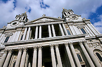 St Paul's Cathedral, designed by architect Sir Christopher Wren, London, United Kingdom.