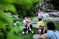 Guests relax outside The West Lake Restaurant. Able to seat up to 5,000 people at one sitting, The West Lake Restaurant is the biggest Chinese restaurant in the world. Each week its diners, who staff are taught are 'the bringers of good fortune', devour 700 chickens, 200 snakes, 1,200 kgs of pork and 1,000 kgs of chillis. Its 300 chefs cook in five kitchens and its staff total more than 1,000.It is fully booked most nights.