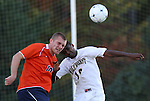 10 November 2010: Virginia's Will Bates (10) and Wake Forest's Chris Duvall (18). The University of Virginia Cavaliers defeated the Wake Forest University Demon Deacons 1-0 at Koka Booth Stadium at WakeMed Soccer Park in Cary, North Carolina in an ACC Men's Soccer Tournament Quarterfinal game.