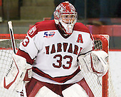 Kyle Richter (Harvard - 33) - The visiting Quinnipiac University Bobcats defeated the Harvard University Crimson 3-1 on Wednesday, December 8, 2010, at Bright Hockey Center in Cambridge, Massachusetts.