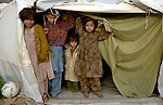 Following an October 8, 2005, earthquake, children in a tent city outside Balakot sponsored by Church World Service/Action by Churches Together.