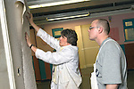UK. Manchester. Oldham College. NVQ Level 2 in Painting and Decorating (part-time evening class)..Photo©Steve Forrest/Workers Photos