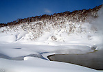 Photo shows the hot spring that awaits skiers at the foot of the slopes at Chisenupuri in the Niseko ski region of Hokkaido, Japan on Feb. 5 2010.
