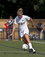 Boston College midfielder Kristen Mewis (19) passes the ball. Boston College defeated University of Virginia, 2-0, at the Newton Soccer Field, on September 18, 2011.