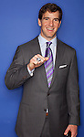 Quarterback Eli Manning at the New York Giants Super Bowl Ring Ceremony at Tiffany and Co. in New York. .. Photo by Robert Caplin