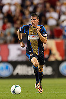 Sebastien Le Toux (11) of the Philadelphia Union. The New York Red Bulls and the Philadelphia Union played to a 0-0 tie during a Major League Soccer (MLS) match at Red Bull Arena in Harrison, NJ, on August 17, 2013.
