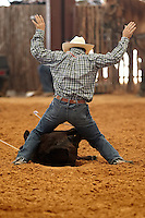 HONDO, TX - MAY 20, 2012: The Third Annual Namgis Premier Tiedown Roping competition. (Photo by Jeff Huehn)