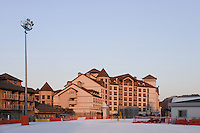 Hotels at the Alpensia Resort is a ski resort and a tourist attraction. It is located on the territory of the township of Daegwallyeong-myeon, in the county of Pyeongchang.  Alpensia Resort will host some events  for the 2018 Winter Olympics and 2018 Winter Paralympics in Pyeongchang.