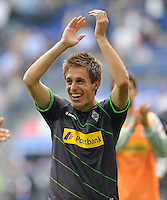 FUSSBALL   1. BUNDESLIGA   SAISON 2011/2012    6. SPIELTAG Hamburger SV - Borussia Moenchengladbach            17.09.2011 Patrick HERRMANN  (Moenchengladbach) freut sich nach dem Abpfiff