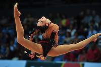 Alina Maksymenko of Ukraine performs at 2011 World Cup at Portimao, Portugal on May 01, 2011.