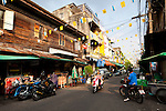 The streets around Tip's Massage Parlor, Samsen Soi 2 and Soi 4 include various examples of traditional and modernized Thai architecture.
