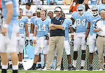 06 October 2007: UNC head coach Butch Davis with Ben Johnson (14) and Vince Jacobs (84). The University of North Carolina Tar Heels defeated the University of Miami Hurricanes 33-27 at Kenan Stadium in Chapel Hill, North Carolina in an Atlantic Coast Conference NCAA College Football Division I game.