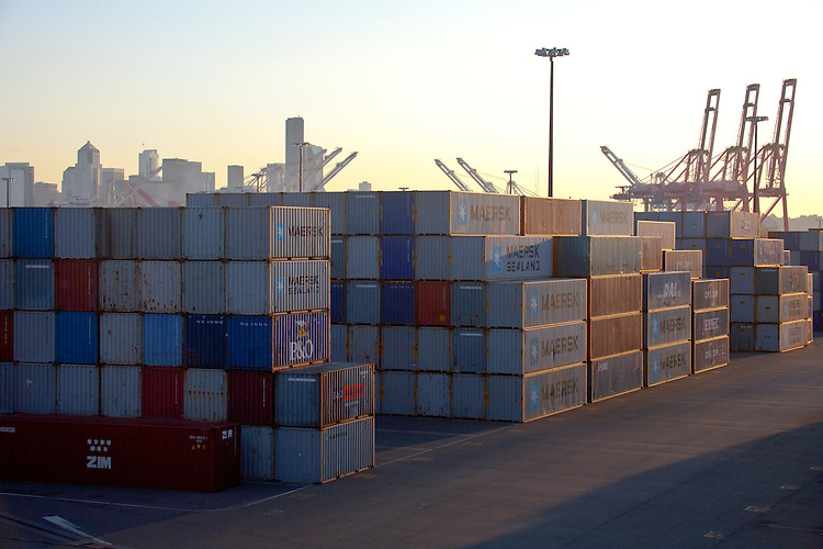 Seattle port of seattle container piers shipping international trade harbor island puget - Container homes seattle ...