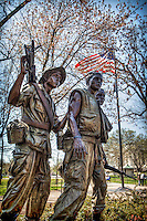 Vietnam Veterans Memorial Three Soldiers Statue Washington DC