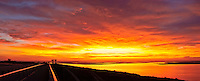 Florida, Ft George, Little Talbot Island SP, Huguenot Memorial Park, panorama, sunrise