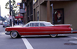 Classic 1960s Cadillac in Hollywood near Grauman's Chinese Theater