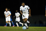 06 December 2014: North Carolina's Omar Holness (JAM). The University of California Los Angeles Bruins hosted the University of North Carolina Tar Heels at Drake Stadium in Los Angeles, California in a 2014 NCAA Division I Men's Soccer Tournament Quarterfinal round match. The game ended in a 3-3 tie after two overtimes. UCLA advanced to the next round by winning the penalty kick shootout 7-6.