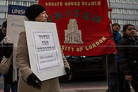 27.03.2013 - Senate House Cleaners Protest outside UNISON
