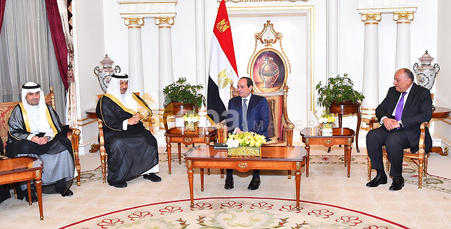 Egyptian President Abdel Fattah al-Sisi, meets with Prime Minister of Kuwait in Kuwait City on May 07, 2017. Photo by Egyptian President Office