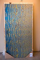 Commercial Projects - 36x72 Abstract River Reflection arrangement on brushed aluminum plate