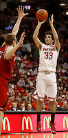 Ohio State Buckeyes guard Amedeo Della Valle (33) scores in the second half against Nebraska at Value City Arena in Columbus Jan. 4, 2013 (Dispatch photo by Eric Albrecht)