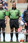 13 September 2015: Referee Rich Grady. The University of North Carolina Tar Heels hosted the University of California Los Angeles Bruins at Fetzer Field in Chapel Hill, NC in a 2015 NCAA Division I Women's Soccer game. UNC won the game 3-1.