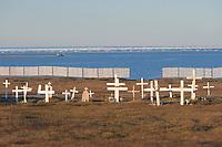 Cemetery in the Village of Kaktovik, Barter Island, Arctic Alaska