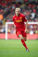 LIVERPOOL, ENGLAND - Easter Monday, April 1, 2013: Liverpool's Craig Roddan in action against Tottenham Hotspur during the Under 21 FA Premier League match at Anfield. (Pic by David Rawcliffe/Propaganda)