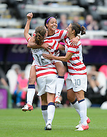 Newcastle, England - Friday, August 3, 2012: The USA women defeated New Zealand 2-0 in the quarterfinal round of the 2012 Olympics at St. James Park. Sydney Leroux celebrates after scoring.