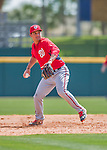 29 February 2016: Washington Nationals infielder Drew Ward in action during an inter-squad pre-season Spring Training game at Space Coast Stadium in Viera, Florida. Mandatory Credit: Ed Wolfstein Photo *** RAW (NEF) Image File Available ***