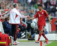 Fussball 1. Bundesliga :  Saison   2011/2012   Liga Total Cup  20.07.2011 FSV Mainz 05 - FC Bayern Muenchen Trainer Jupp Heynckes , Takashi Usami  (v. li., FC Bayern Muenchen)