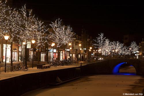 Sfeerverlichting Nieuwestad, centrum Leeuwarden