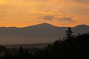 Mount Washington at sunrise from Bretton Woods, New Hampshire USA during the summer months.