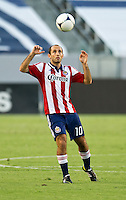 CARSON, CA - July 7, 2012: Chivas USA midfielder Nick LaBrocca (10) during the Chivas USA vs Vancouver Whitecaps FC match at the Home Depot Center in Carson, California. Final score Vancouver Whitecaps FC 0, Chivas USA 0.
